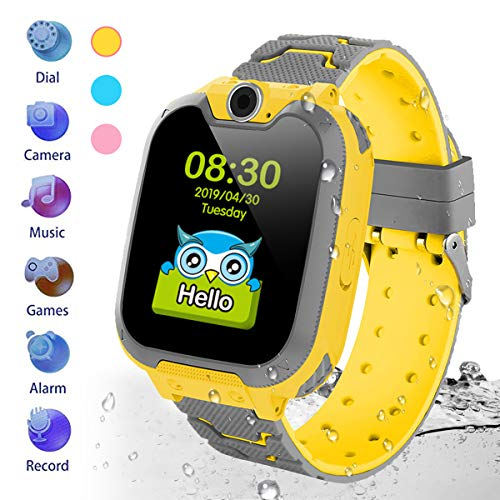 Kids Waterproof Smartwatch [SD Card Included],1.54 inch Colorful Touch Screen Smartwatch for Children with Quick Dial, Camera and Music Player,Calculator and Alarm for Boys and Girls(NOT SUPPORT AT&T) (Calculator Watch For Girls)