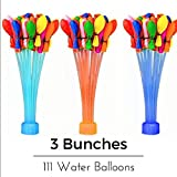 Water Balloons - Mifa - Water Balloon for party and fight Bunch of water balloons with filler and auto tie - 9 bunches - total 333 balloons