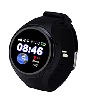 Amazon.com: PINCHU T88 New Baby Smartwatch Children Watches GPS Smart Watch Pedometer SOS Call Round Phone With A Sim Card,Black: Sports & Outdoors