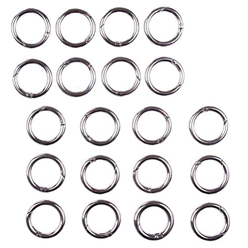 Junke O Ring Zinc Alloy Round Carabiners Rings Spring Snap Clips