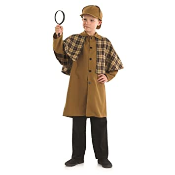 Victorian Edad Disfraz Detective Infantil Medio 124cm 8 6 qqHfr
