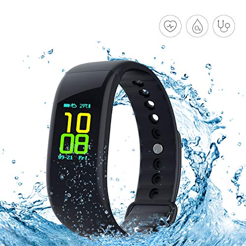 Yeartown Fitness Tracker, Activity Tracker OLED Color Screen Watch Smart Wristband Heart Rate Test, IP67 Waterproof Sports Bracelet Steps, Mileage Trails, Calorie/Sleep Monitoring etc
