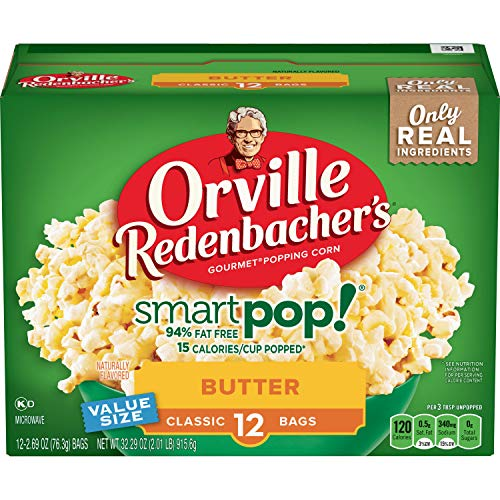Orville Redenbacher's SmartPop! Butter Microwave Popcorn, 2.69 Ounce Classic Bag, 12-Count, Pack of 6 ()