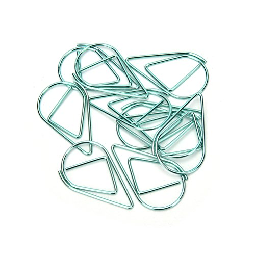 KathShop Whole 10 pcs/lot Metal Material Water Drop Shape Memo Paper Clips funny bookmark office shool stationery marking clips