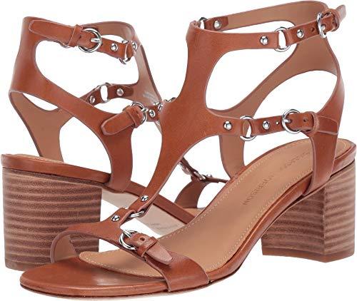 (Sigerson Morrison Women's Haven Block Heel Sandals, Cuoio, Tan, 40 M EU)