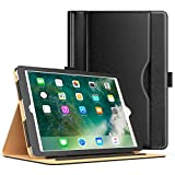 #10: MoKo Case for iPad 2017 9.7 Inch - Slim Folding Stand Folio Cover Case for Apple New iPad 9.7 Inch (2017 Release, 5th Gen) with Document Card Slots, Multiple Viewing angles, BLACK