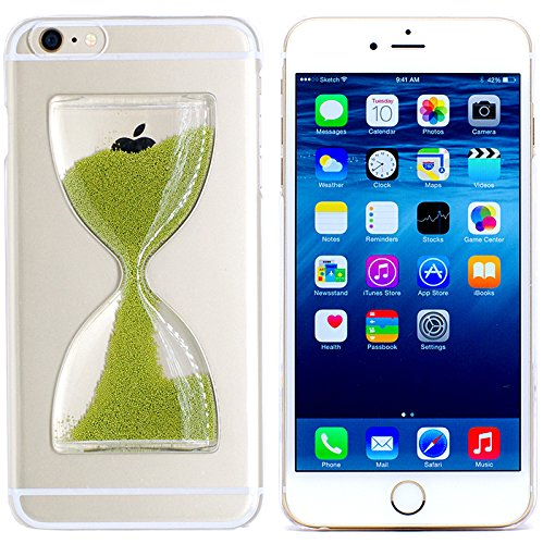 iPhone 6s/6 Case, S LEGIT® [Green] Build-in Hourglass Sand Clock Timer with Liquid Hard Protective Phone Case for Apple iPhone 6s (2015) / 6 (2014) 4.7-inch **NEW** [Green]