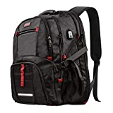 Extra Large Backpack,TSA Friendly Durable Travel Backpack with USB Charging Port/Headphones Hole for Men&Women, Anti theft&Secure, Water-Resistant Big Business College School bag Fits 17' Laptop