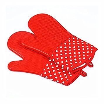 Profesional guantes de horno de silicona guantes de horno de microondas guantes de cocina