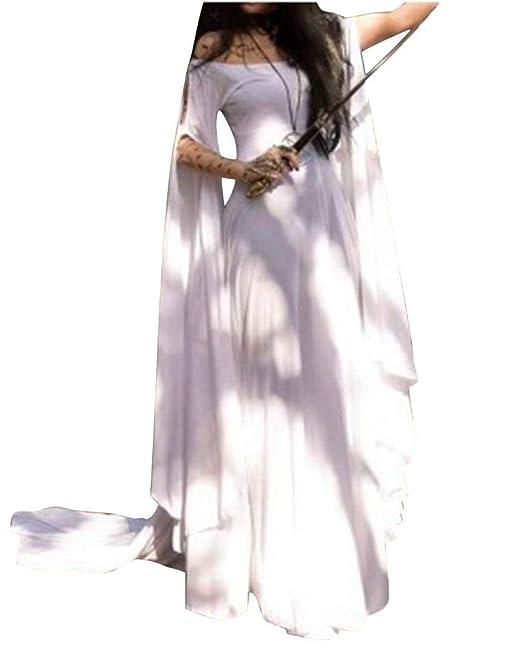 PengGengA Mujer Traje Medieval Irregular Disfraz De Reina ...