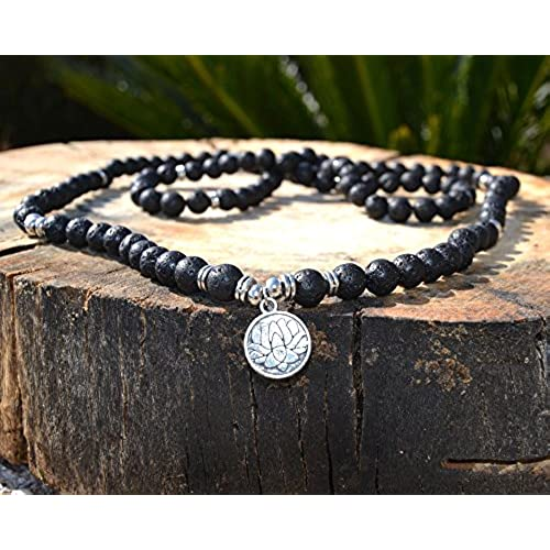 f9e4bcc02d1c Caliente de la venta Pulsera Collar con Cuentas de Piedra Volcánica Moda  Hombre