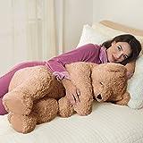 Vermont Teddy Bear - Giant Cuddle Buddy Bear, 3 Feet Long, Latte