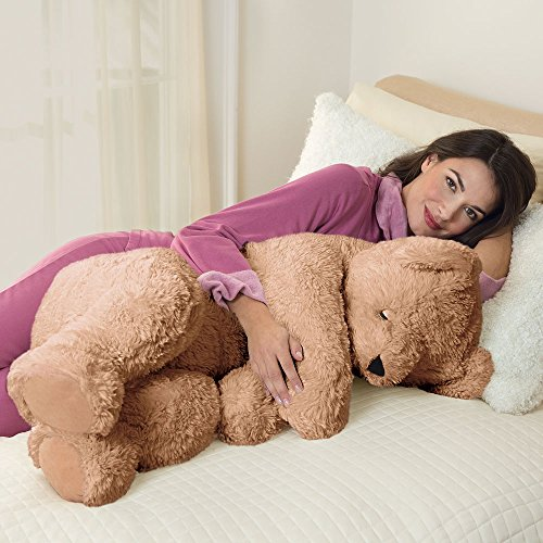 Vermont Teddy Bear   Giant Cuddle Buddy Bear  3 Feet Long  Brown