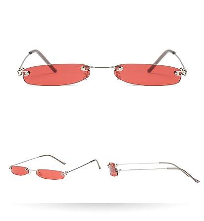 KOMNY Gafas de Sol de la Vendimia Mujeres Pequeñas Gafas de ...