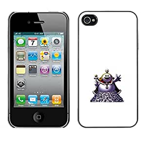 // PHONE CASE GIFT // Duro Estuche protector PC Cáscara Plástico Carcasa Funda Hard Protective Case for iPhone 4 / 4S / Welcome Fat Ball /