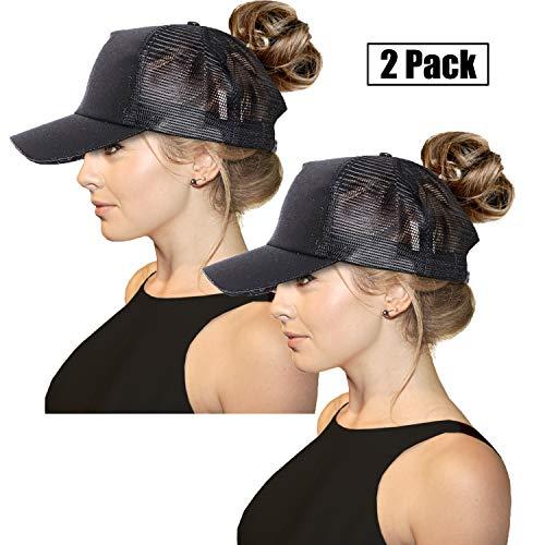 7e1e266ef FADA Glitter Ponytail Baseball Cap High Ponytail Hat Women Messy Buns Mesh  Ponycap Dad Hat
