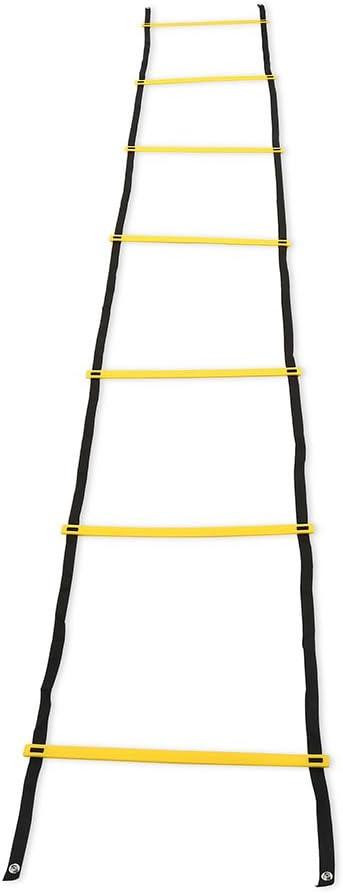 Escalera de Agilidad, Escalera de Entrenamiento de Nailon para Entrenamiento de fútbol, fútbol, Fitness, pies, 7 - Rung: Amazon.es: Deportes y aire libre