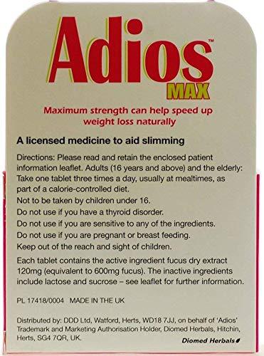 Adios Max Herbal Slimming Tablets Triple Pack Buy Online In Oman