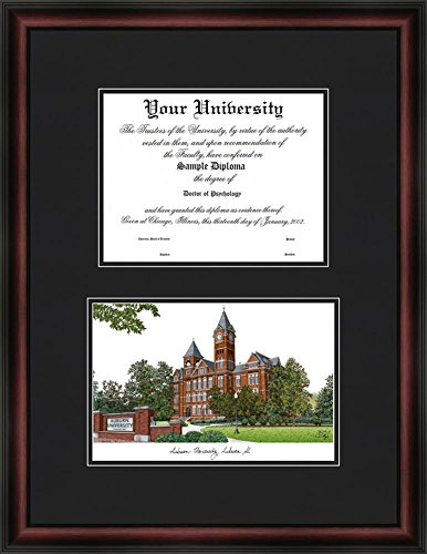Auburn University Tigers Diploma Frame & Lithograph Print (Lithograph Tigers)