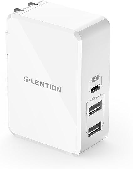 Amazon.com: LENTION Cargador de pared USB-C de 45 W con ...