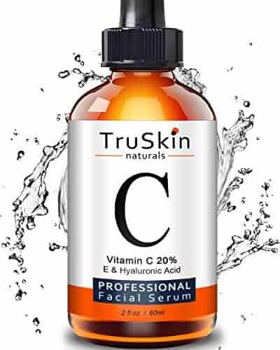 The BEST ORGANIC Vitamin C Serum - [BIG 2-OZ Bottle] - Hyaluronic Acid, 20% C + E Professional Topical Facial Skin Care to Repair Sun Damage, Fade Age Spots, Dark Circles, Wrinkles & Fine Lines -2 oz