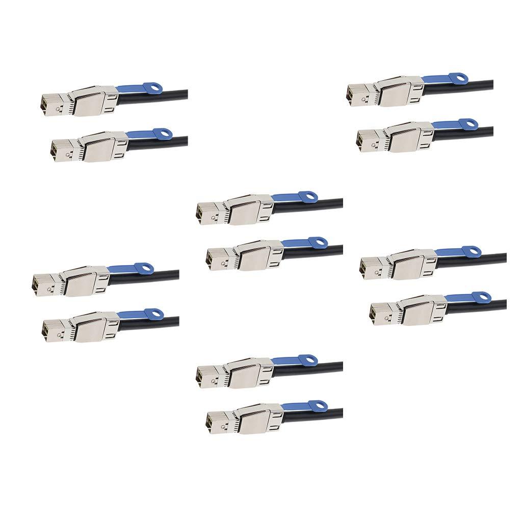 gazechimp 6xMini-SAS HD SFF-8644 to Mini-SAS SFF-8644 External Cable for Expander 0.5M by Gazechimp