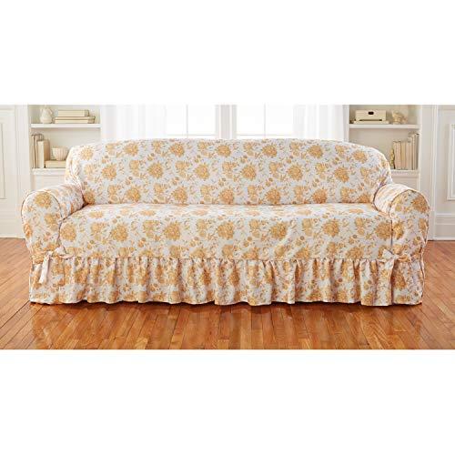 BrylaneHome Sofa Slipcover - Natural Floral