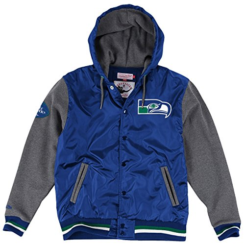 Mitchell & Ness Seattle Seahawks NFL Standings Vintage Premium Jacket (Mitchell And Ness Jacket)