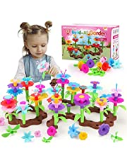 KaeKid Toys for 3-8 Year Old Girls,127 PCS Flower Garden Building Toys, Outdoor Games for Kids, DIY Floral Arrangement Pretend Playset for Creativity, Toys Gifts for Kids Age 3 4 5 6 7 8