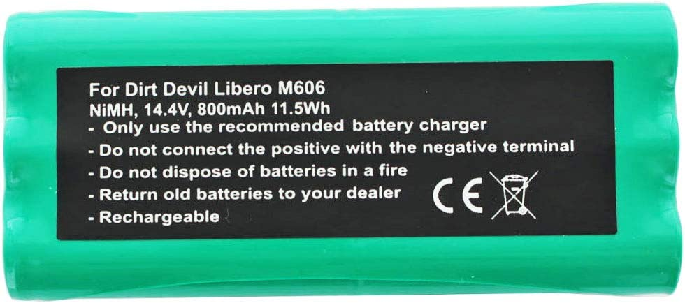 Batería Compatible con Dirt Devil Libero M606, 800 mAh: Amazon.es ...