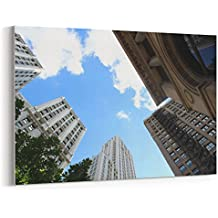Westlake Art - Canvas Print Wall Art - Chicago Metropolitan on Canvas Stretched Gallery Wrap - Modern Picture Photography Artwork - Ready to Hang - 18x12in (*7x-816-0d1)