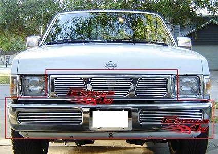 APS Fits 95 97 Nissan Hardbody Billet Grille Combo N87938A