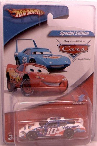 Scott Riggs #10 Valvoline Dodge Charger Special Disney Cars Edition with Lightning Mcqueen & The King on the hood of the 1/64 Scale Diecast Hotwheels 2005 Edition ()