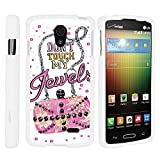verizon lg lucid 3 - LG Lucid 3 VS876 Phone Cover, Hard Shield Phone Case Hard Jacket with Unique Designs for LG Lucid 3 VS876 (Verizon) by MINITURTLE - Don't Touch My Jewels