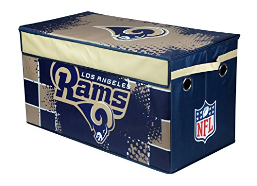(NFL Los Angeles Rams Collapsible Storage Trunk Toy Box)