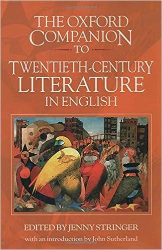 Book The Oxford Companion to Twentieth-Century Literature in English
