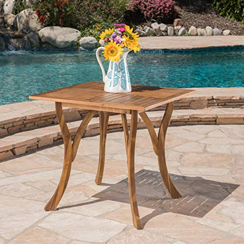 GDF Studio 298193 Baia Square Acacia Wood Table, Natural