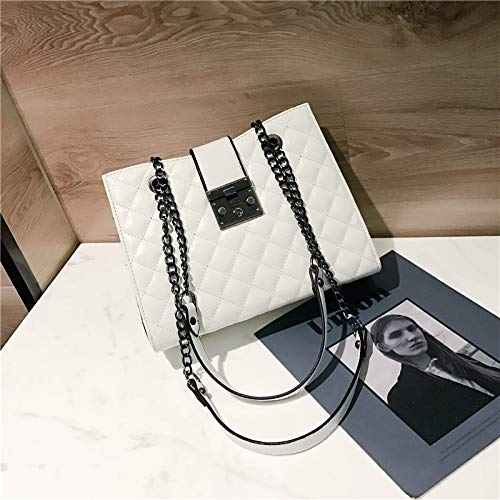 À Wwddvh Femme Bandoulière Main Blanc Stitching Fashion Pour Sac q1aC5