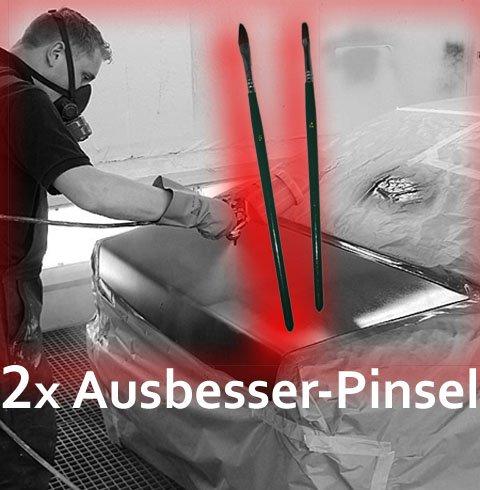 Ausbesser Pinsel Pinsel Set für Autolack Gr. 4+6 Autolackierpinsel PINSEL Lackierpinsel Modellbau