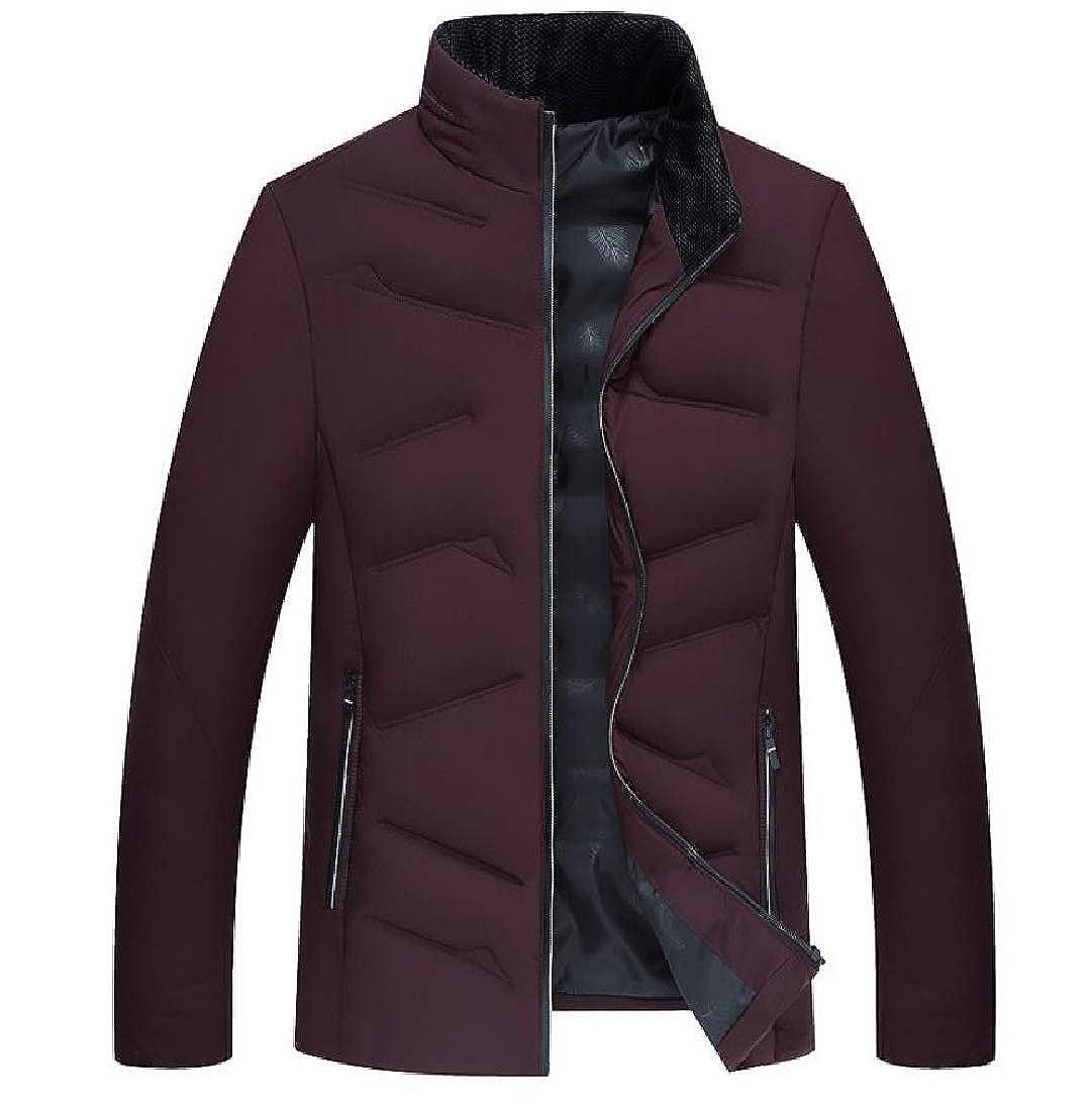 Highisa Mens Windproof Plus Size Premium Cozy Brumal Down Coat Jacket