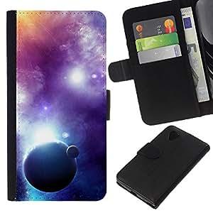 NEECELL GIFT forCITY // Billetera de cuero Caso Cubierta de protección Carcasa / Leather Wallet Case for LG Nexus 5 D820 D821 // Fantasía Galaxy