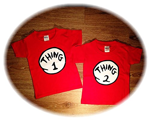 Thing 1 Thing 2 baby Onesies, (6T Toddler (Thing 1 And Thing 2 Halloween Ideas)