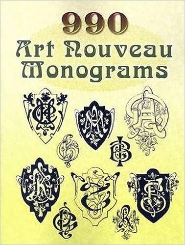 990 Art Nouveau Monograms (Dover Pictorial Archive)