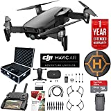 DJI Mavic Air Drone Combo with Remote Controller Extended Fly Bundle with Hard Case , Dual Battery , Landing Pad , Corel Photo Pro , 64GB High Speed Card and 1 Year Warranty Extension (Onyx Black)