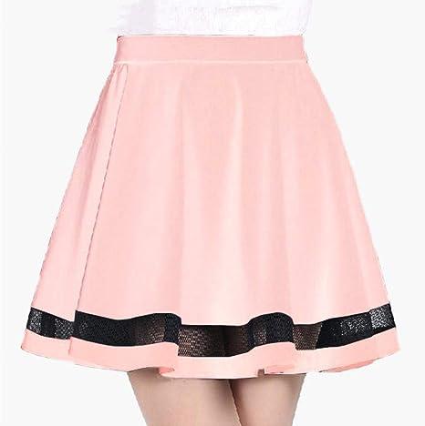FSDFASS Faldas Moda diseño de la Rejilla de Las Mujeres Falda ...
