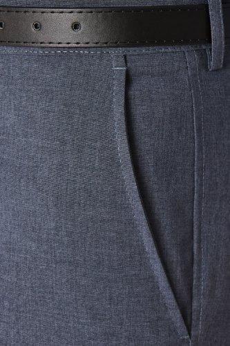 Hommes Farah Slant Poche Formelle Pantalon Classique Bleu 36W x 27L