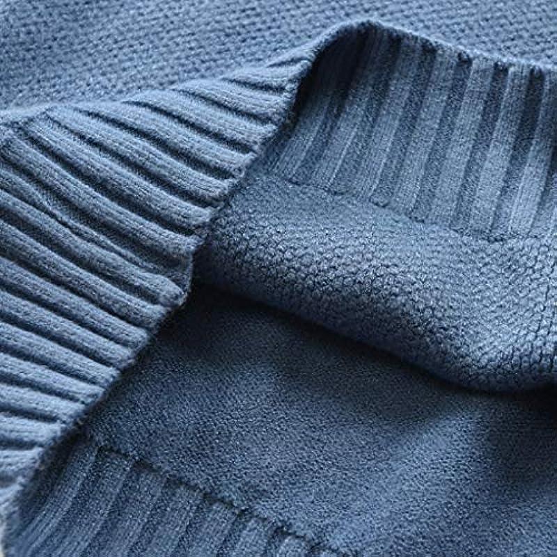 Hffan sweter z dzianiny męski jesień zima casual z długim rękawem kołnierz rolowany smukły czas wolny Slim Fit Basic bluza sweter jednokolorowy drobno dziany sweter: Odzież