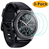 KIMILAR 3-Pack Compatible Samsung Gear S3 & Samsung Galaxy Watch 46mm Screen Protector, Waterproof Tempered Glass Cover Compatible Gear S3 / Galaxy Watch 46mm Smartwatch Crystal Clear Scratch Resist