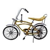 Pretty Valley Home - Retro Classic Handmade Iron '1972 Yellow Schwinn Manta Rays Bicycle' Model Craft Figure