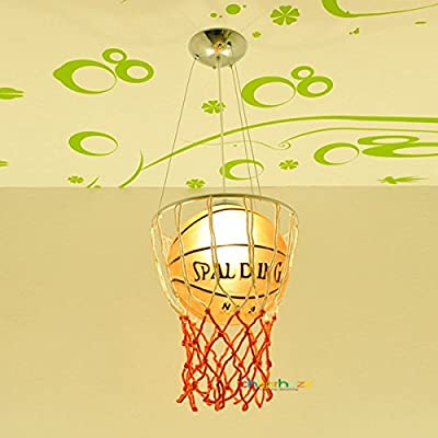 Cheerhuzz Modern Basketball Ceiling Light Pendant Lamp Chandelier Kid's Bedroom Lighting
